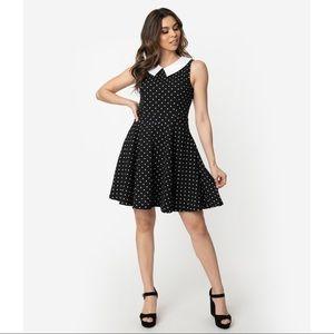 Smak Parlour Polka Dot Collared Dress